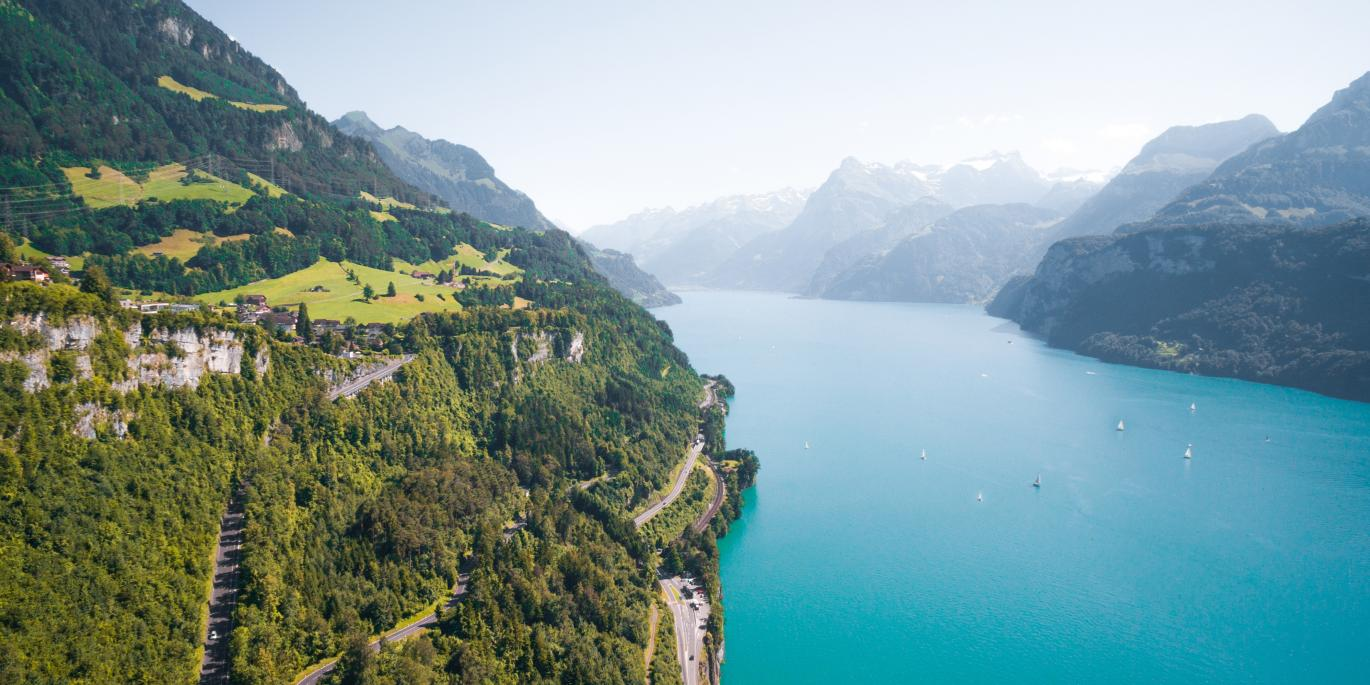 Swiss road view